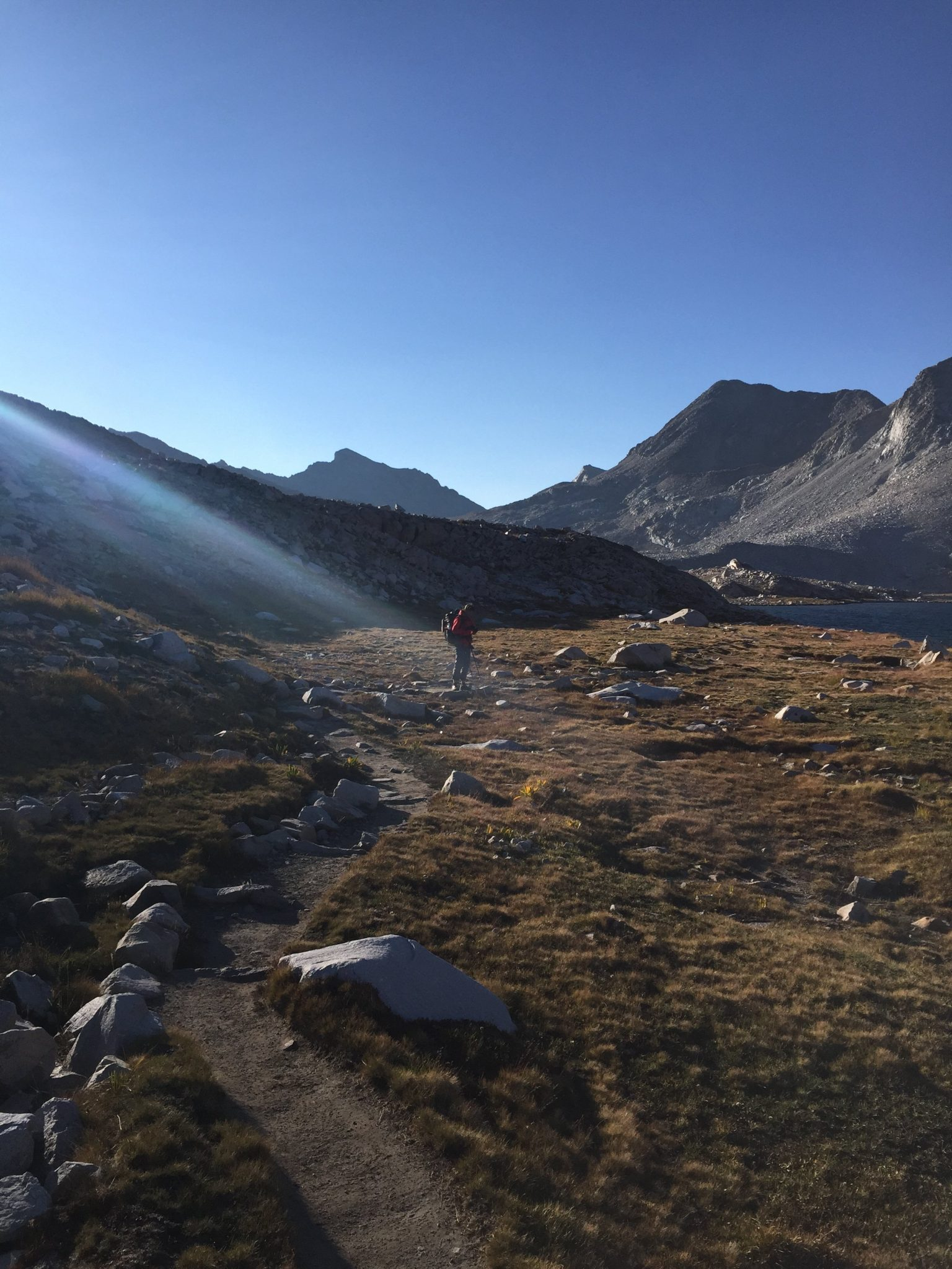 Climbing from Wanda Lake to Muir Pass (2)