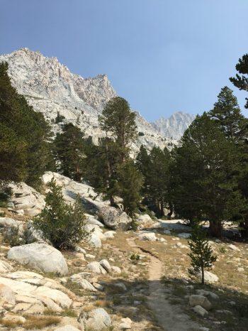 Climbing to Evolution Basin (1)