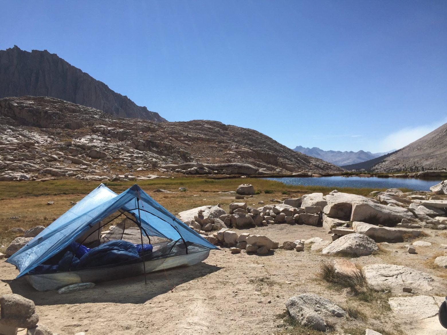 Final campsite at tarn above Guitar Lake (1)