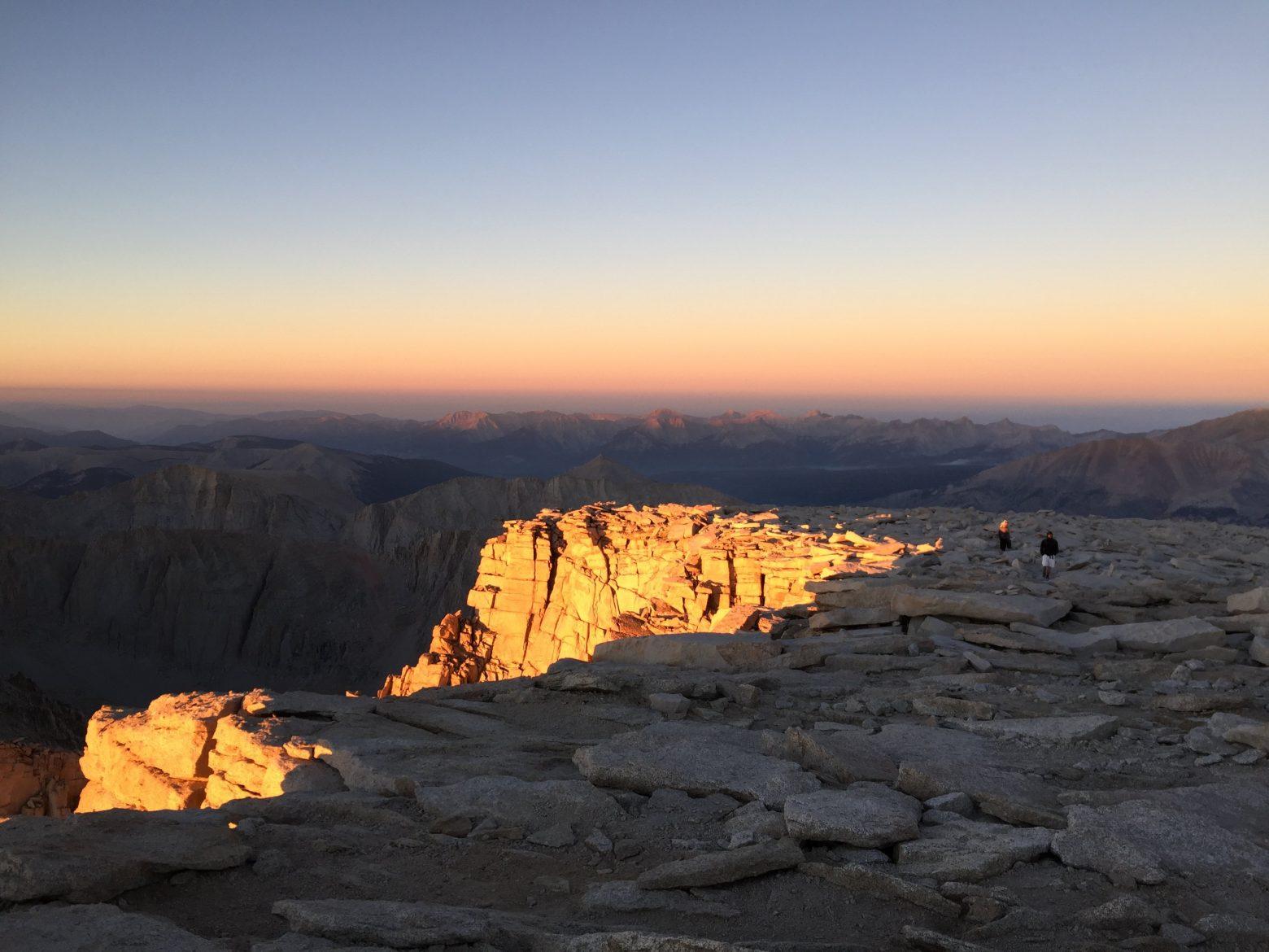 Sunrise on the summit of Mt. Whitney (1)