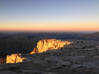 Sunrise on the summit of Mt. Whitney (1)