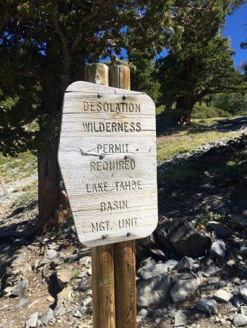 Entering the Desolation Wilderness