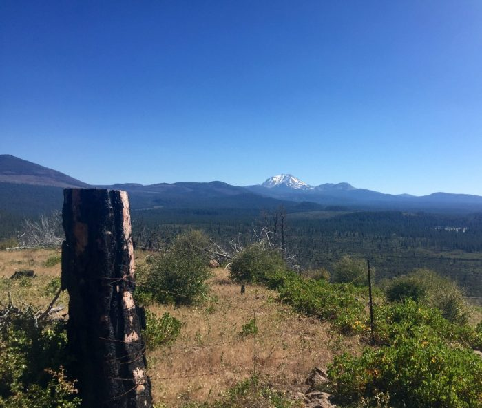 View of Lassen Peak from Hat Creek Rim