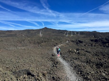 PCT winding through more fields of lava rock