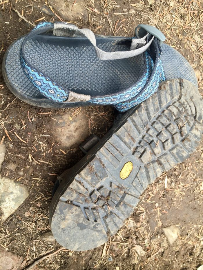 Blue Chaco hiking sandals