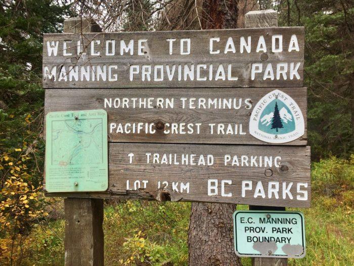 Manning Provincial Park welcome sign