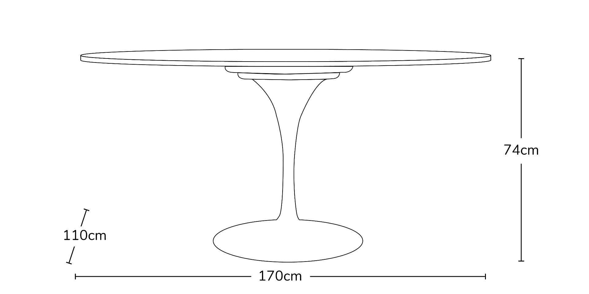 Eero Saarinen Inspired Tulip Table Top Oval Table 170cm