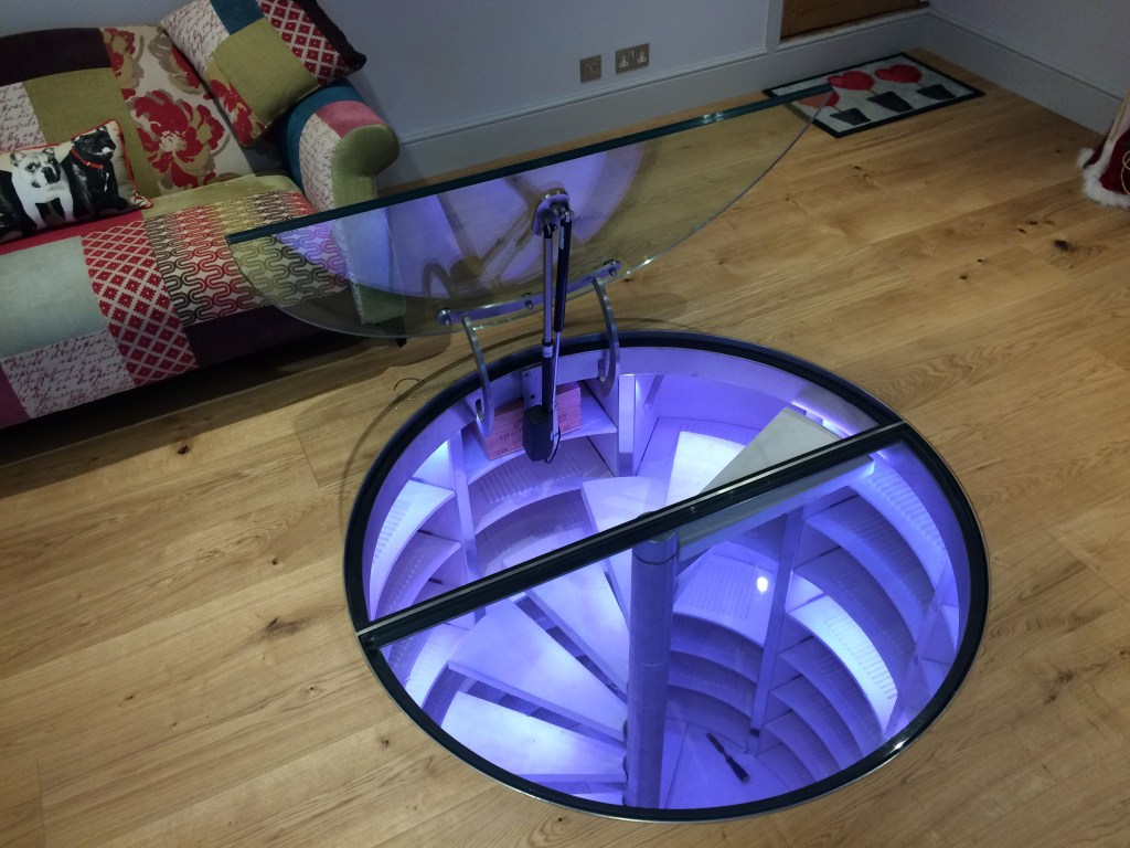Motorised Glass Cellar Door