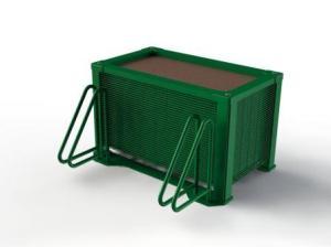 Bacs à plantes avec support ratelier deux vélos