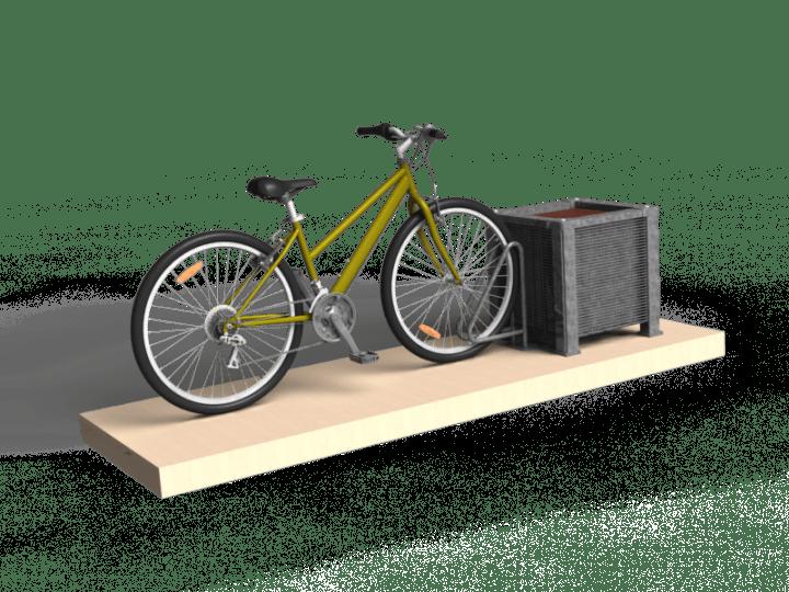 Le ratelier vélo Stonefence avec bac à fleurs
