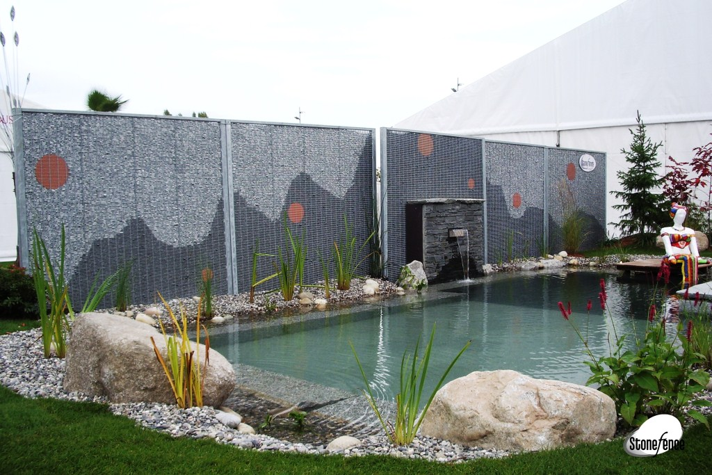 photos panneaux modulaires gabion pour piscines stonefence. Black Bedroom Furniture Sets. Home Design Ideas