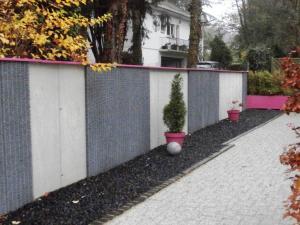 Mur gabion réalisé à Mulhouse