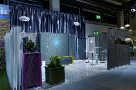 Salon Giardina : les Gabion au stand Stonefence