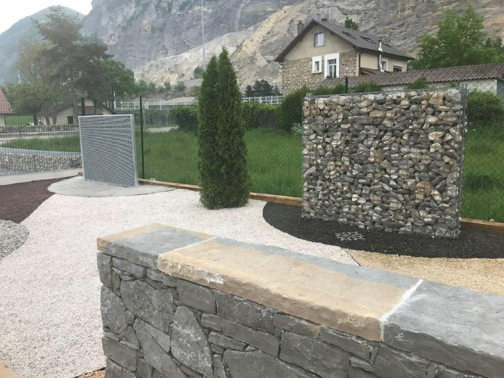 Fabricant De Gabion Rhone Alpes clôtures minérales avec chavaz pere et fils   stonefence