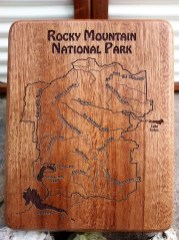 Rocky Mountain National Park River Map Fly Box