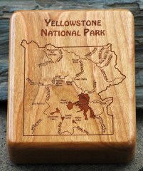 Yellowstone National Park River Map Fly Box