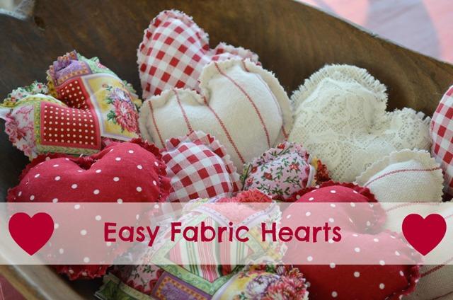Easy Fabric Hearts