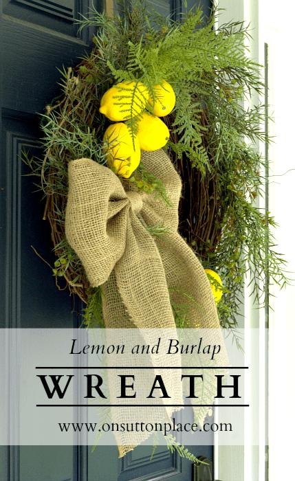 Lemon and Burlap Wreath Tutorial