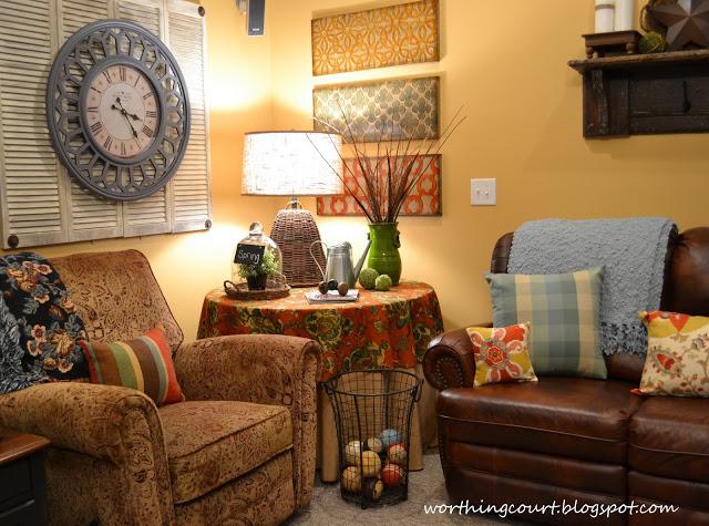 Worthing Court: Basement family room