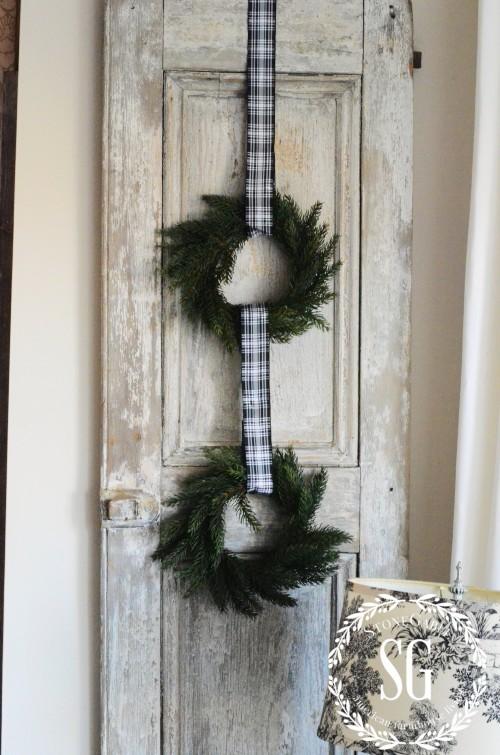 SHUTTER LOVE- USING SHUTTERS AS DECOR- wreath on shutter-stonegaleblog.oom