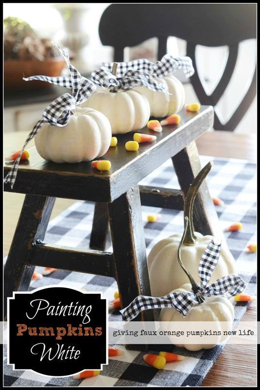 BLOG Painting Pumpkins White Title Page - stonegableblog.com