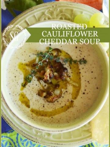 ROASTED CAULIFLOWER CHEDDAR SOUP