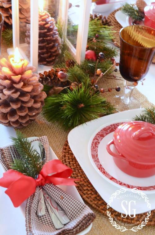 WOODLAND CHRISTMAS TABLESCAPE-corelle-stonegableblog.com
