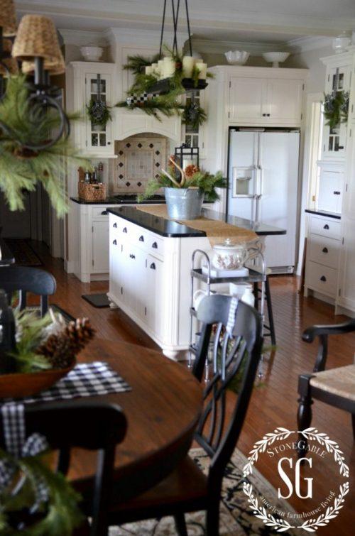 CHRISTMAS FARMHOUSE KITCHEN-farmhouse style-stonegableblog.com