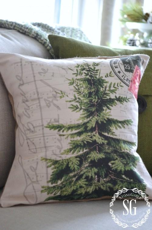 CHRISTMAS PILLOW GIVEAWAY-christmas tree-stonegableblog.com