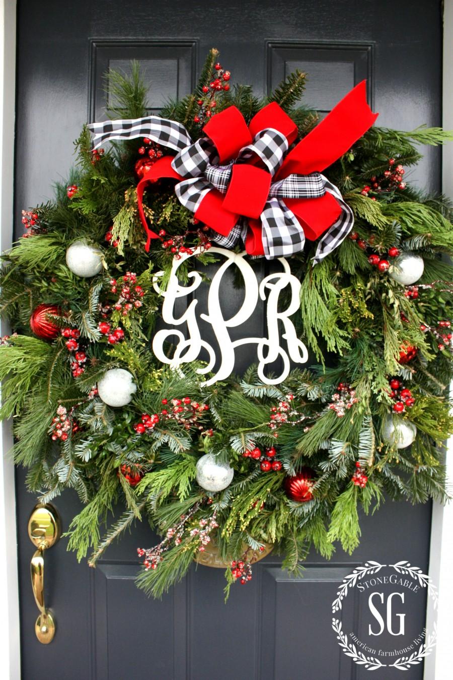 Wreath On Glass Front Door