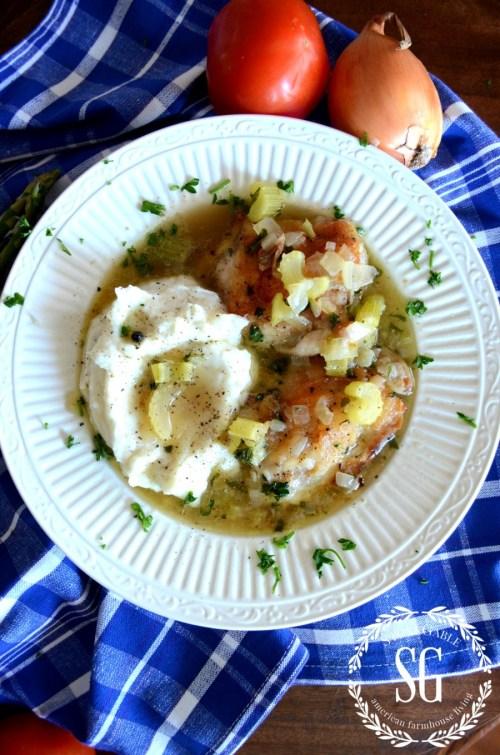 NANI'S SAUTEED CHICKEN-served-in-bowl-stonegableblog.com