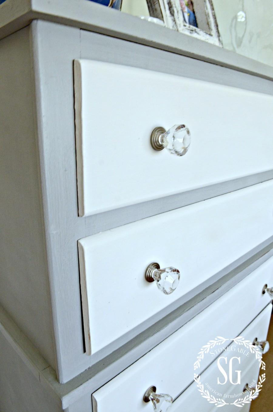 Two Toned Paris Grey And White Dresser Diy Stonegable
