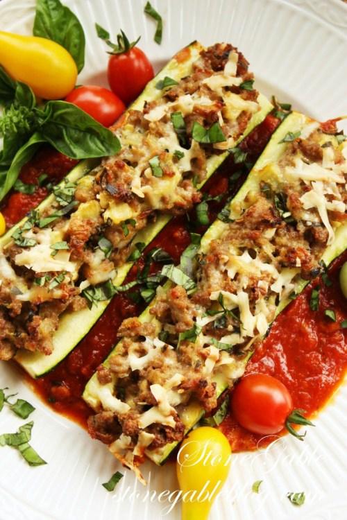 10 GARDEN TO TABLE RECIPES-zucchini boats-stonegableblog.com