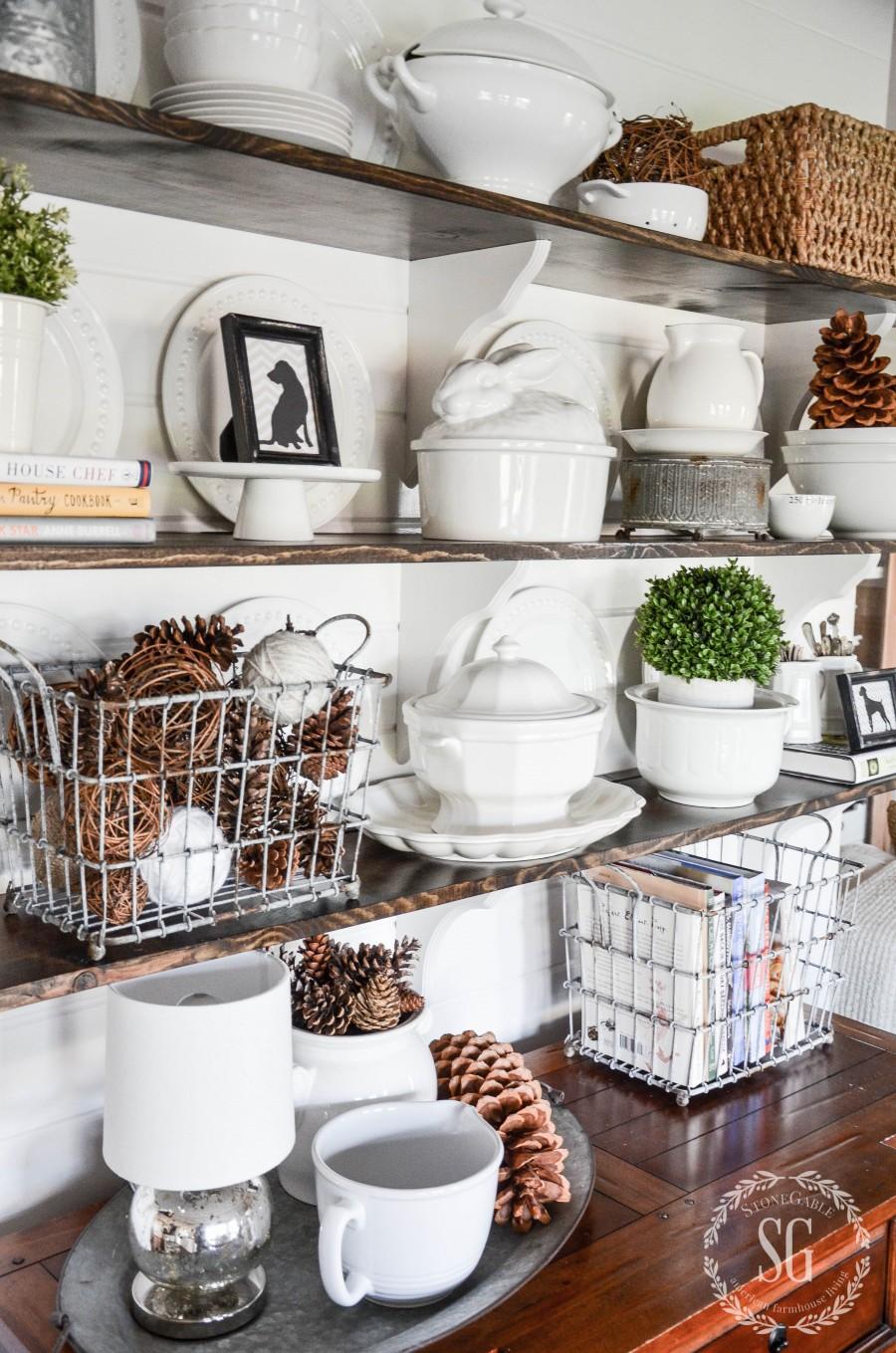 2014 Home Decor Trends Open Shelving: OPEN SHELVES IN THE BREAKFAST ROOM