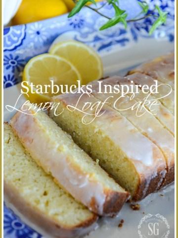 STARBUCKS INSPIRED LEMON LOAF CAKE-Easy to make and divinely lemony!