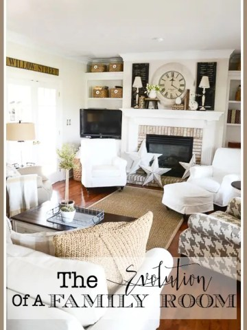 THE EVOLUTION OF A FAMILY ROOM