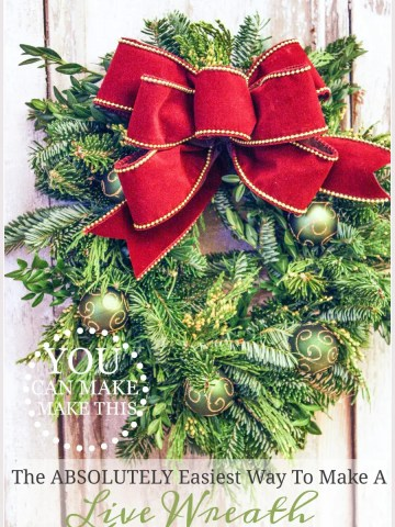 THE ABSOLUTE EASIEST WAY TO MAKE A LIVE WREATH… YOU CAN DO THIS!