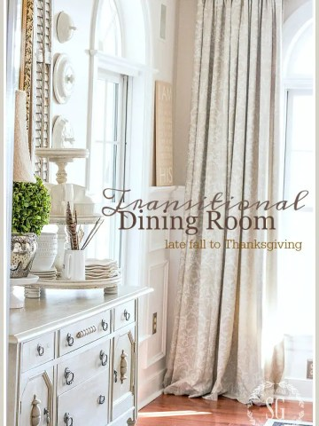 TRANSITIONAL DINING ROOM DECOR