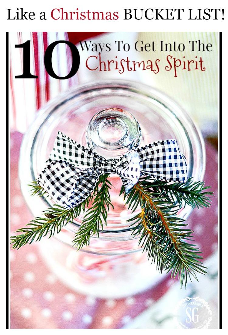 10 WAYS TO GET INTO THE CHRISTMAS SPIRIT - StoneGable