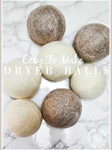EASY TO MAKE DRYER BALLS