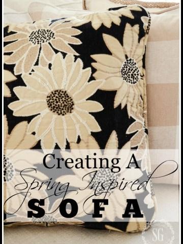 CREATE A SPRING INSPIRED SOFA
