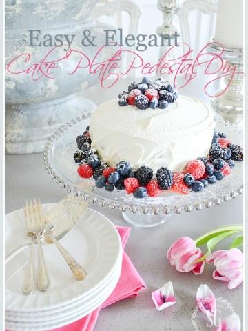 10 MINUTE CAKE PLATE PEDESTAL DIY