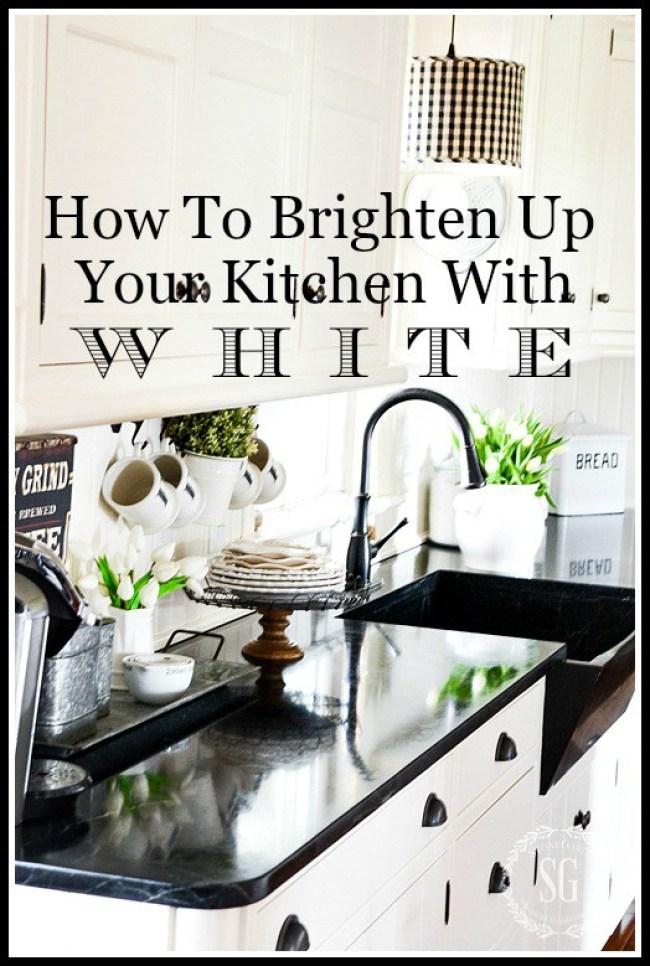 35 Fresh White Kitchen Cabinets Ideas To Brighten Your: BRIGHTEN UP YOUR KITCHEN WITH WHITE