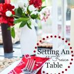 SETTING AN AL FRESCO TABLE