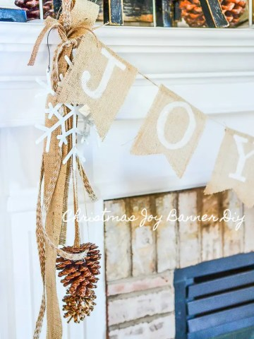 CHRISTMAS JOY BANNER DIY
