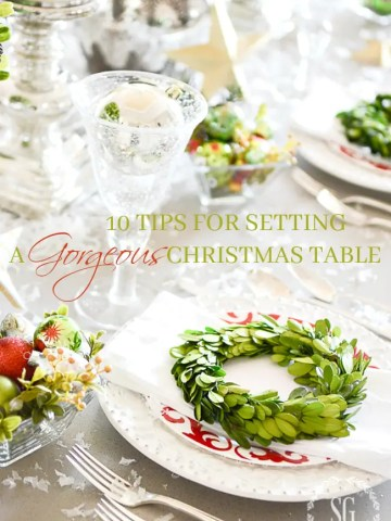 10 TIPS FOR SETTING A GORGEOUS CHRISTMAS TABLE
