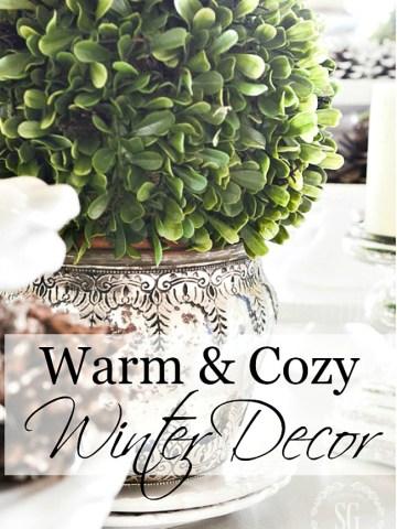 COZY WARM WINTER DECORATING