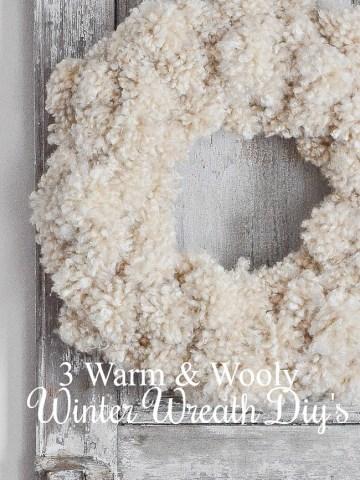 THREE EASY WINTER WREATHS FOR YOUR FRONT DOOR