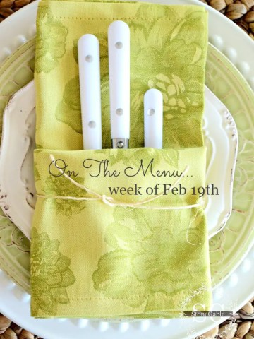 ON THE MENU WEEK OF FEB 19TH