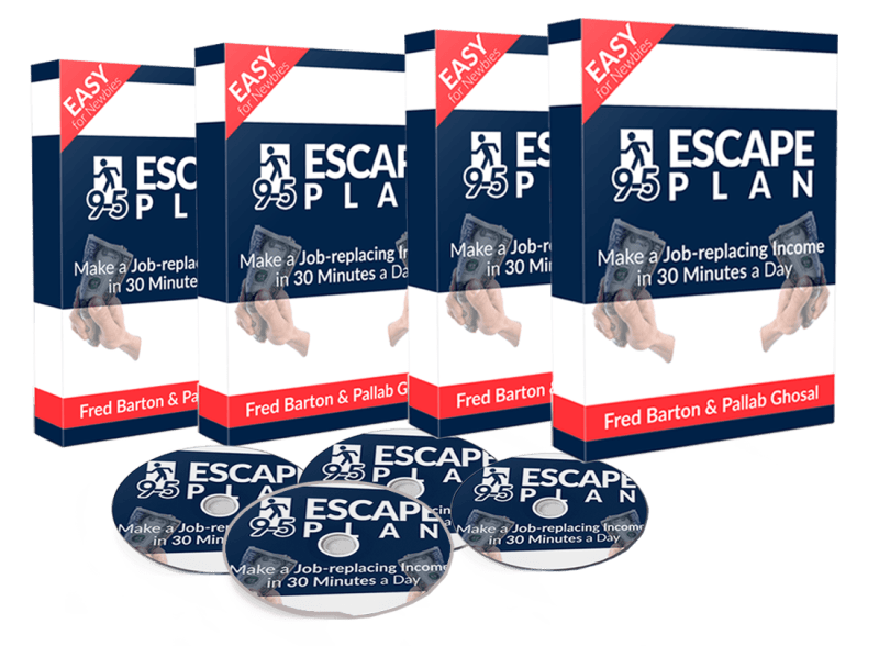 """9-5 Escape Plan Review – SHOULD YOU GET IT? : Discover How Fred Barton Make An Online Income $40-$50 A Day In Completely Passive Income, Without Doing Any """"Real Work"""""""